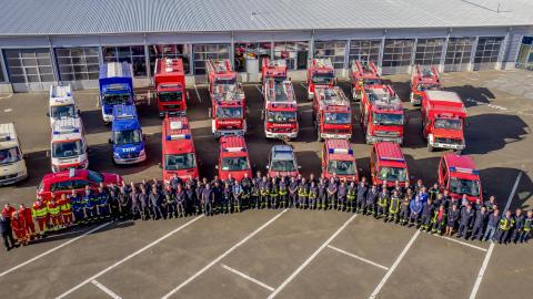Landrat bedankt sich bei Barnimer Brandschutzeinheit für selbstlosen Einsatz