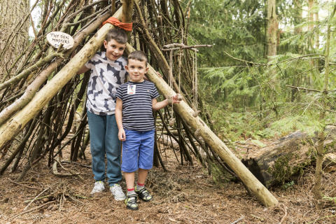 Center Parcs brings the joy of den building to a new generation