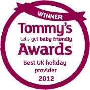 Center Parcs crowned winner of Best UK Holiday Provider at Tommy's Awards 2012