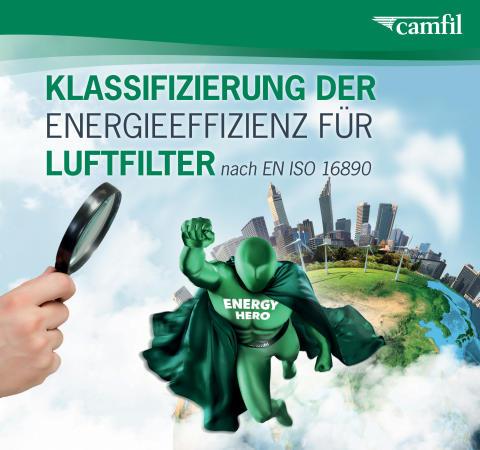 Energieeffizienz-Klassifizierung für Luftfilter nach EN ISO 16890