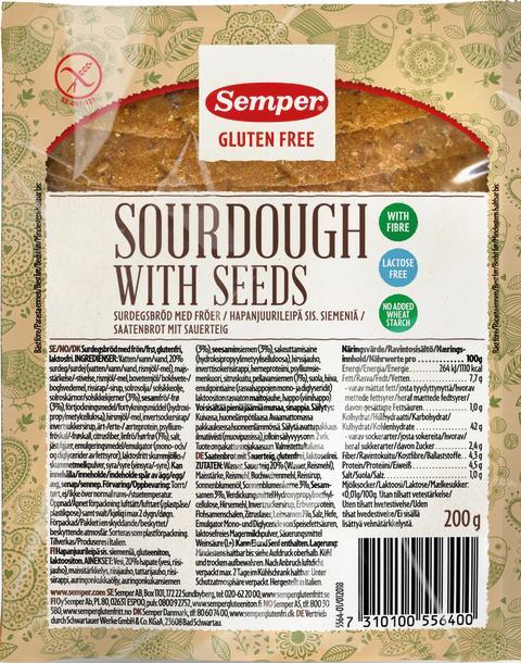 Lite glutenfritt langtidsholdbart brød for mindre matsvinn fra Semper