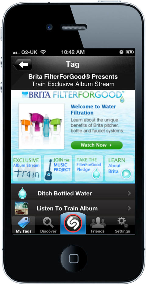 """Shazam Partners with Brita FilterForGood Music Project and Train for Shazam's First Ever Exclusive """"New Album Preview"""""""
