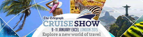 Join 'Best Value for Money' Fred. Olsen Cruise Lines at the Telegraph Cruise Show London 2015 | ExCeL, 9th to 11th January 2015, Stand 820