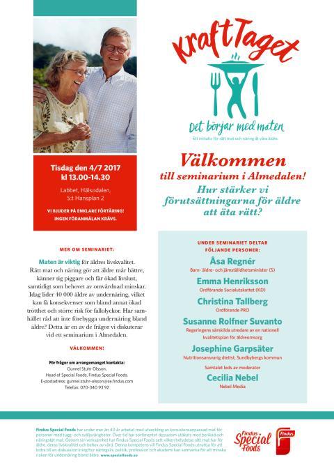Seminarium i Almedalen: Hur stärker vi förutsättningarna för äldre att äta rätt?