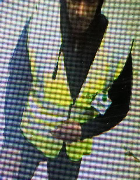 CCTV image of a man officers would like to speak to in relation to a theft in Bletchley