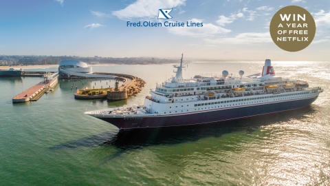 Five lucky travel agents to WIN a year of free Netflix with Fred. Olsen Cruise Lines