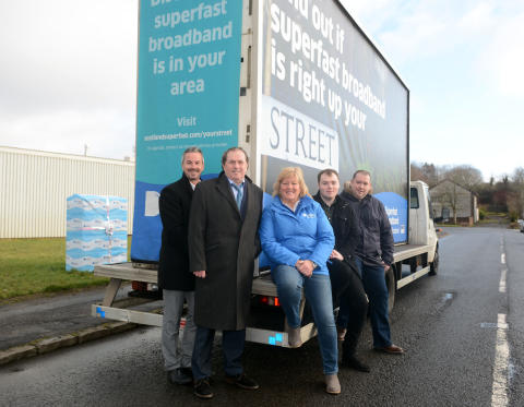 Fibre boost for Kilbirnie thanks to Digital Scotland Superfast Broadband