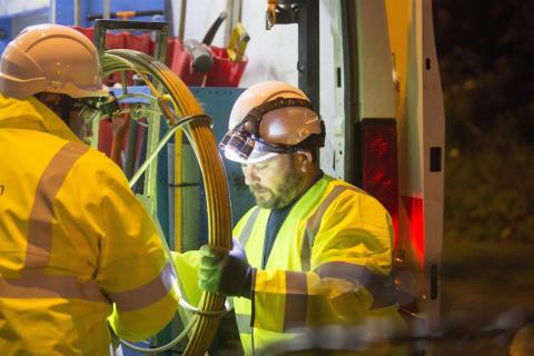 Engineers night working