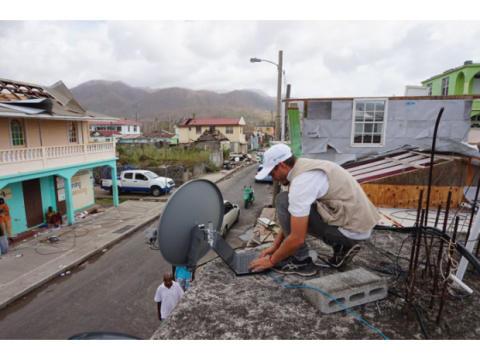 Eutelsat unterstützt den Einsatz des ETC in weltweiten Katastrophenfällen