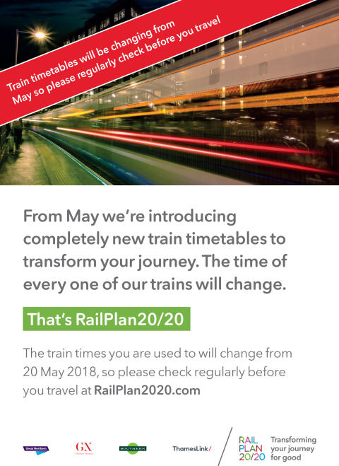 GTR announces 400 new daily train services in UK's biggest-ever timetable change