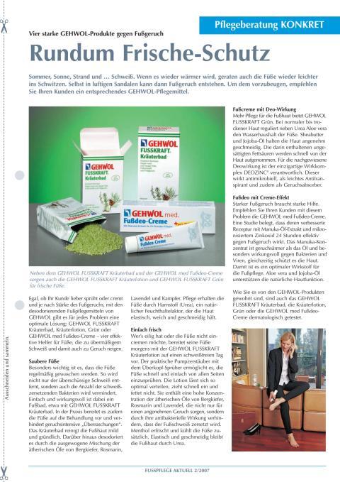 Rundum Frische-Schutz: Vier starke GEHWOL-Produkte gegen Fußgeruch