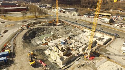 Byggeprosess Trondheimsporten