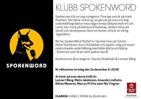 Spoken Word på Clarion Hotel Stockholm