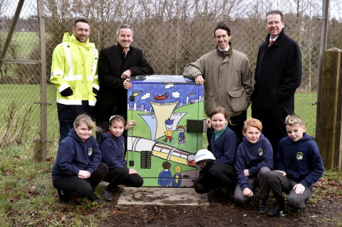 Cumbrian Pupils Wrap up Broadband Cabinet in Time for Christmas