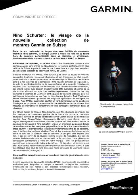 Nino Schurter : le visage de la nouvelle collection de montres Garmin en Suisse