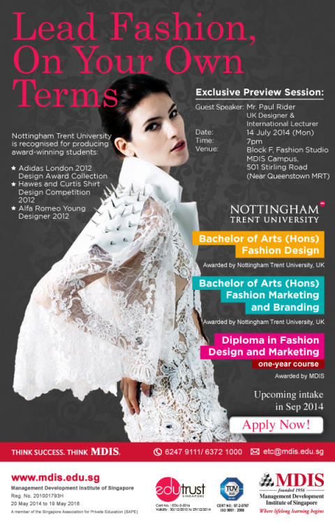 EXCLUSIVE PREVIEW: Fashion your career with MDIS