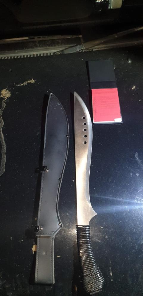 Image of recovered knife