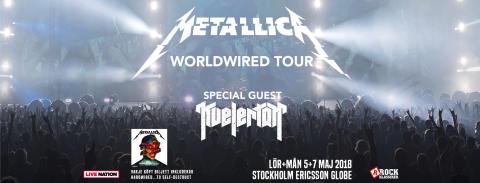 Rockklassiker partner när Metallica kommer till Sverige