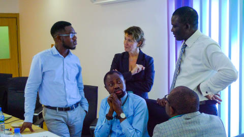 Discussing marketing strategy with CAP Plc in Lagos, Nigeria