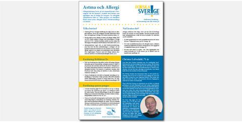 Nytt faktablad: Forskning om allergisjukdomarna kan hjälpa många
