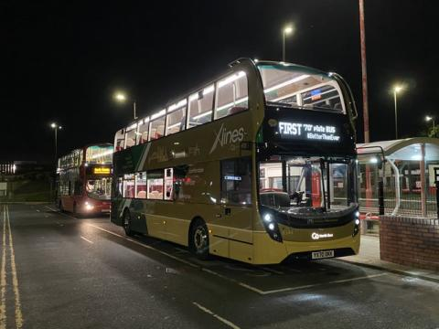 First new registration 70 plate bus hits the road