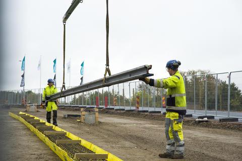 Första rälsen på plats för Lunds spårväg