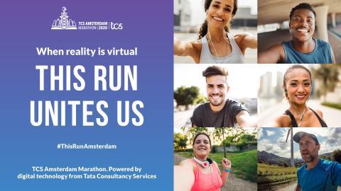 TCS Amsterdam Marathon op zondag 18 oktober virtueel van start