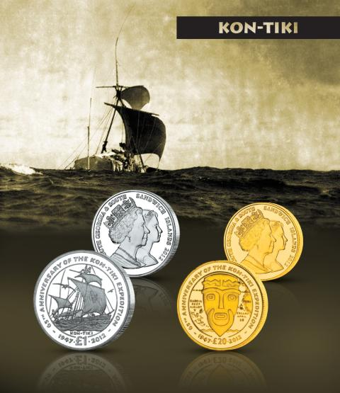 Kon-Tiki får sin egen offisielle mynt