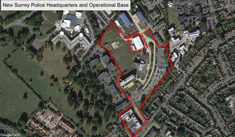 New Surrey Police Headquarters and operational base site purchased in Leatherhead