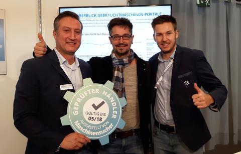 Maschinensucher.de: Vertrauenssiegel für Maschinenhändler