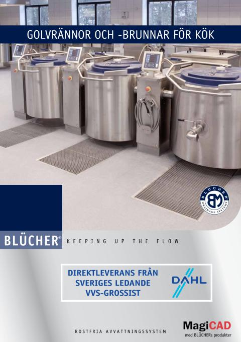 Blücher golvrännor- och brunnar för kök