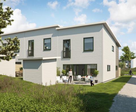Brf Kryddhyllan i Gårdsten består av 34 radhus. Ett område att trivas i.