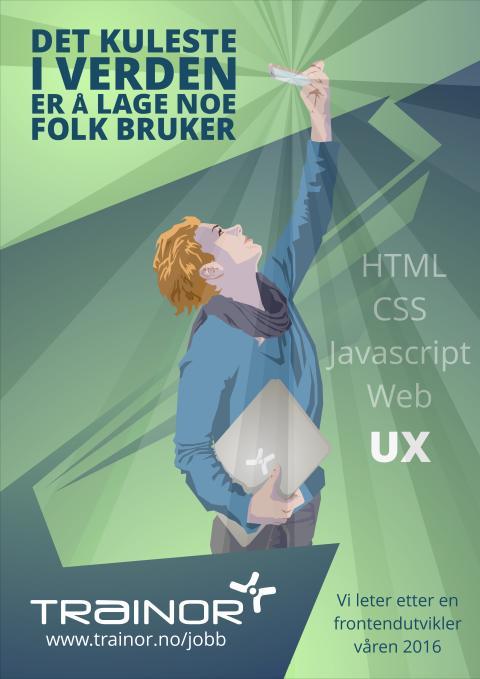 Plakat webutvikler