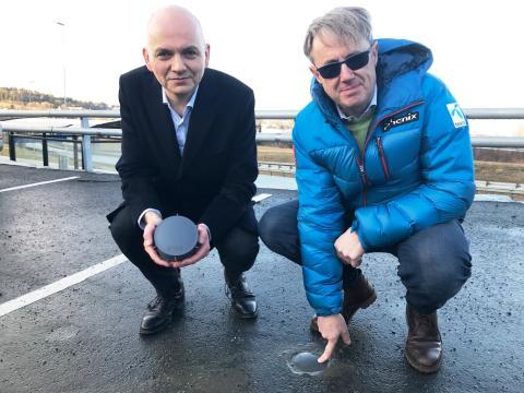Forskningsdirektør Anders Hagen, Q-Free og dekningsdirektør Bjørn Amundsen, Telenor