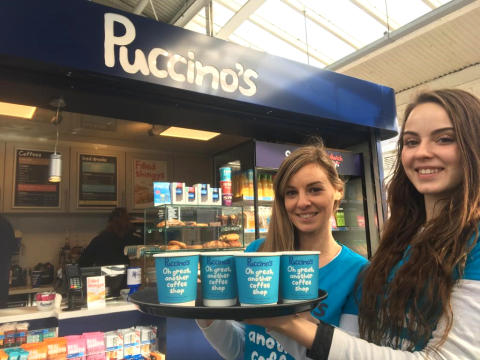 Puccino's has arrived at Eastbourne station