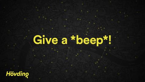 Hövding Give a Beep kampanjefoto