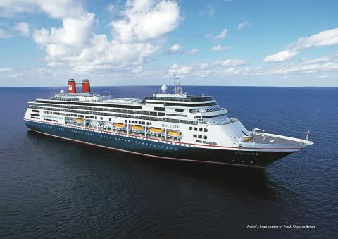 Fred. Olsen Cruise Lines' new flagship Bolette sets sail for Dover ahead of inaugural Maiden Voyage