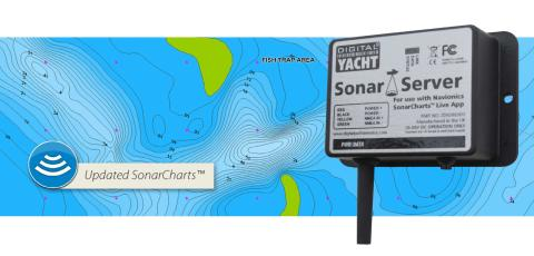 Digital Yacht Sonar Server adds real time bathymetry to Navionic's Boating App