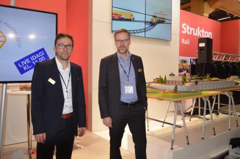 Stephan Winkler, t.v. och Anders Larsson t.h.