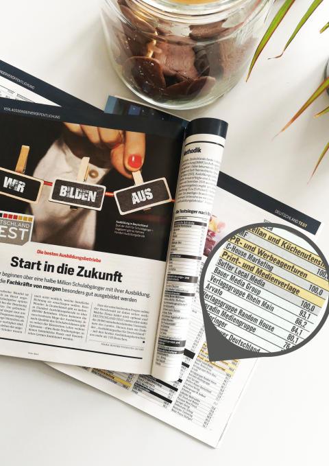 Sutter LOCAL MEDIA ist erneut einer von Deutschlands besten Ausbildern