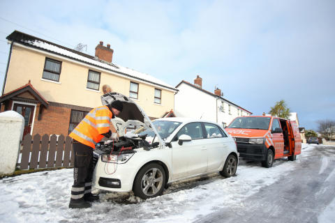 Weather and travel update: the RAC remains on high alert with record number of breakdowns