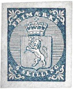 Norges første frimerke