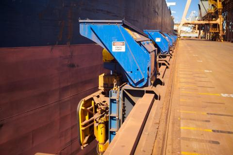 Cavotec MoorMaster MM200B units at an iron ore handling facility at Port Hedland, Australia.
