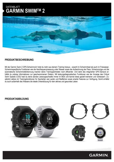 Datenblatt Garmin Swim 2