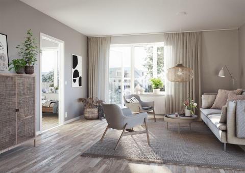 Välplanerade lägenheter där man bor nära både staden och naturen.