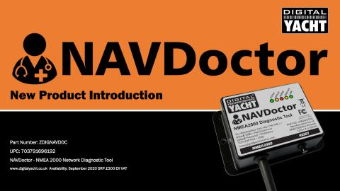 Digital Yacht launch NAVDoctor for NMEA 2000 network diagnostics & testing