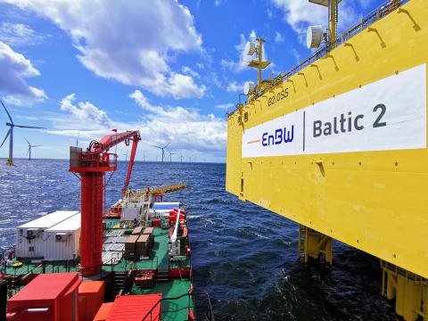 ESVAGT DANA i Baltic 2 offshore vindpark