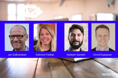 Fire nye Webstep-rådgivere som kan hjelpe deg med digitaliseringen