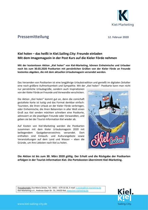 Kostenlose Postkartenaktion holt Freunde nach Kiel