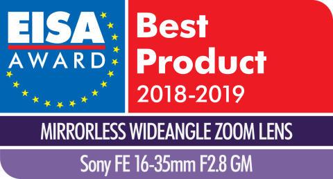EISA Award Logo Sony FE 16-35mm F2